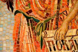 Мозаичная икона Иоанна Предтечи. Фрагмент. Рязанская область