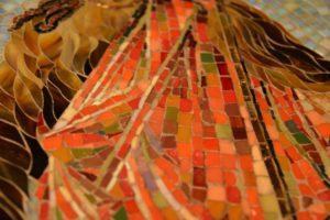 Облачение Иоанна Предтечи. Фрагмент. Мозаичная икона для памятного знака. Рязанская область