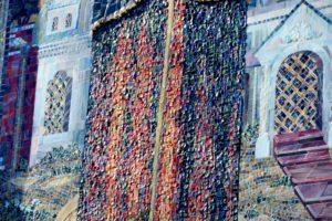 Юбка Ксении Петербургской. Фрагмент иконы из мозаики для храма Ксении Блаженной