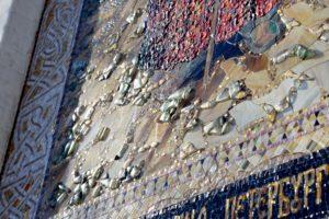 Фрагмент иконы из мозаики Ксении Петербургской для алтарной части Храма