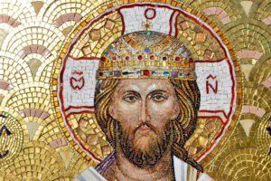 Лик Спасителя для иконы из мозаики Спаситель на троне