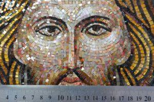 Лик Спасителя для мозаичной иконы Спаситель на троне