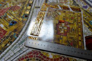 Евангелие. Фрагмент мозаичной иконы Спас на троне