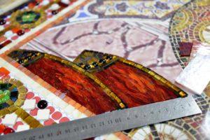 Фрагмент мозаичной иконы Спаситель на троне
