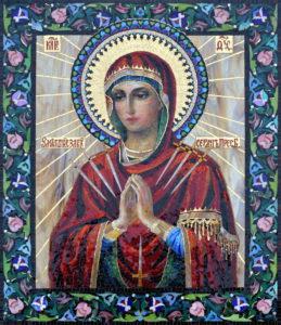 Мозаичная икона Умягчение злых сердец. Семистрельная