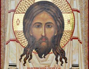 Мозаичная икона Спас Нерукотворный из смальты