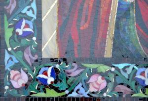 Мозаичная икона Умягчение злых сердец. Фрагмент обрамления