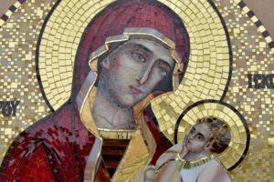 Богоматерь Шуйская. Утоли мои печали. Икона из мозаики