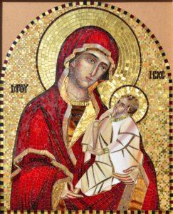 Мозаичная икона Шуйская Богоматерь. Утоли мои печали