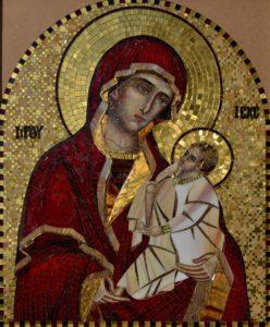 Богоматерь Шуйская. Икона из мозаики для фасада Храма