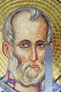 Николай Чудотворец. Лик. Икона из мозаики