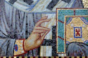 Николай Чудотворец. Икона для ниши. Фрагмент